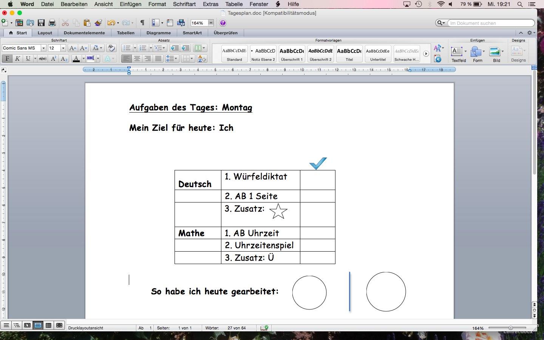 Selbstorganisiertes Lernen in Kl. 1: Zielformulierung