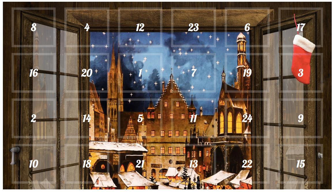 Blog-Adventskalender mit 24 Überraschungen